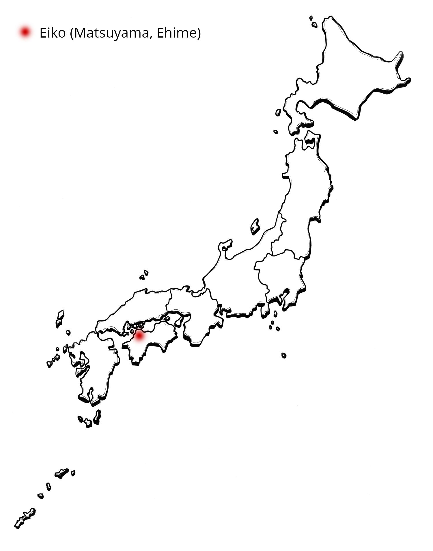 Shizuku KnowledgeBreweries Distilleries - Japan map 4 main islands
